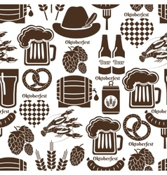Oktoberfest seamless background pattern vector