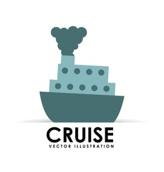 Cruise icon vector