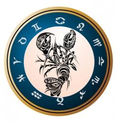 Zodiac signs cancer vector