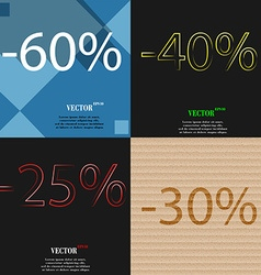 40 25 30 icon set of percent discount on abstract vector