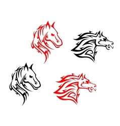 Tribal horses vector