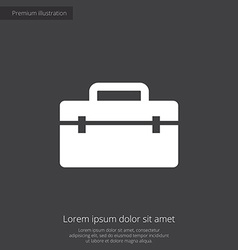 Tools box premium icon vector