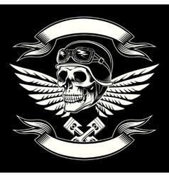 Motor skull graphic motorcycle vintage vector