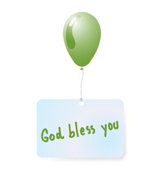 Balloon with god bless you tag vector