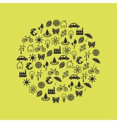 Environment icons in circle vector