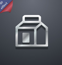 Milk juice beverages carton package icon symbol 3d vector