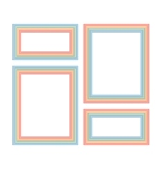 Frames for photos vector