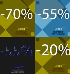 55 20 icon set of percent discount on abstract vector