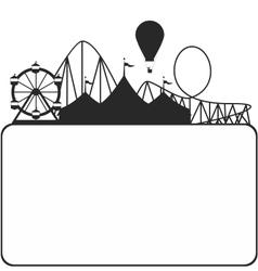 Carnival silhouette vector