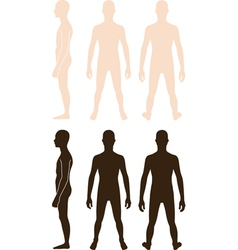 Teenager boy silhouette vector