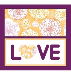 Warm day flowers love text frame pattern vector