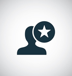 Star profile icon vector