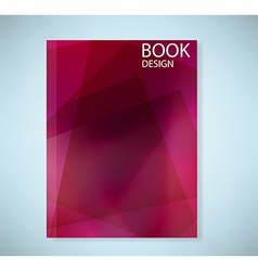 Cover report red abstract background vector