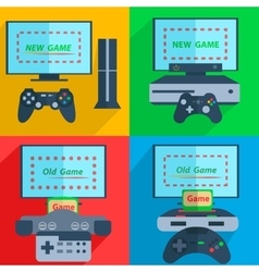 Set game consoles vector