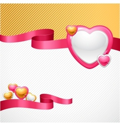 Valentines day background gift card and flyer vector