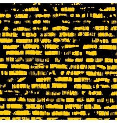 Brick wall yellow relief texture with shadow vector