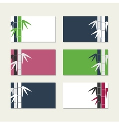 Bamboo stems greeting cards vector