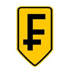 Swiss franc symbol button vector
