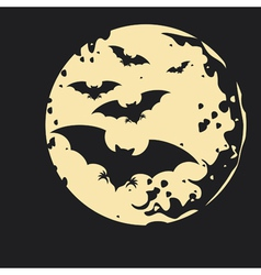 Night bat background vector