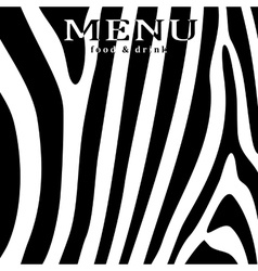 Restaurant menu on a background zebra vector