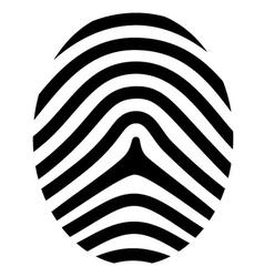 Drawing fingerprint symbol vector