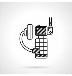 Black icon for portable radio device vector