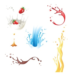 Splashes vector