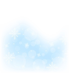 Christmas winter background with snowflakes vector