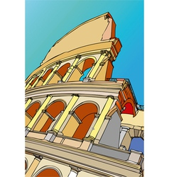 The colosseum of rome rome italy vector