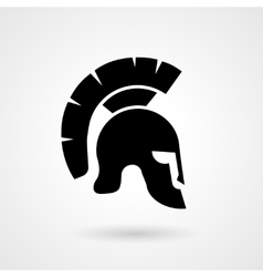 Silhouette of an ancient roman or greek helmet vector