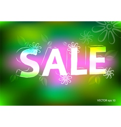 Spring sale marketing effect neon retro background vector