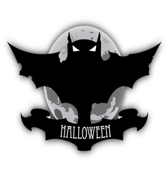 Holloween dark bat and moon vector