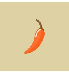 Hot pepper food flat icon vector