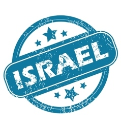 Israel round stamp vector