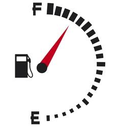 Gas gauge-gas tank symbol vector