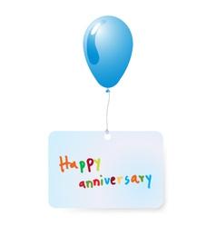 Balloon with happy anniversary vector