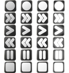 Clean white control panel icons vector