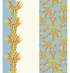 Design of blank for agricultural business - wheat vector