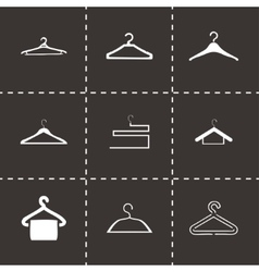 Hanger icons set vector