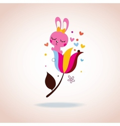 Cute bunny character vector