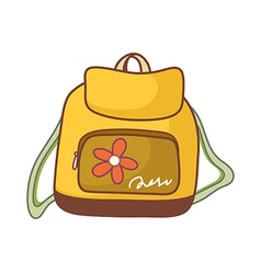 A backpack vector