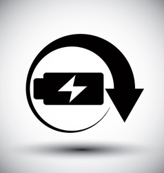 Battery simplistic symbol charge indicator icon vector