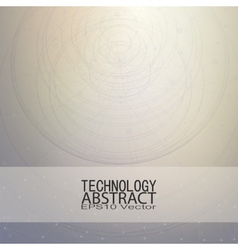 Technical retro background conceptual vector