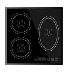 Kitchen - induction hob household appliances vector