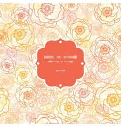 Warm flowers frame seamless pattern vector