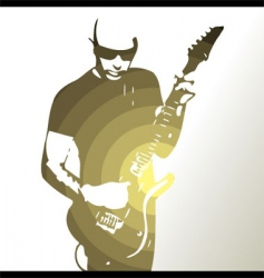 Guitar player background vector