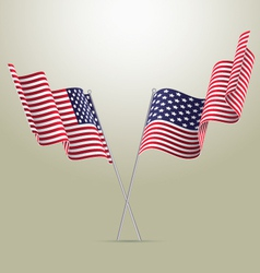 American flags vector