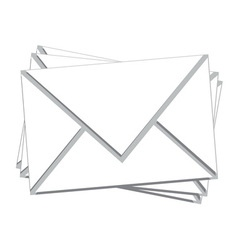 Stack white mail isolated vector
