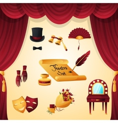 Theater elements set vector