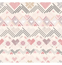 Abstract geometric seamless pattern aztec style vector